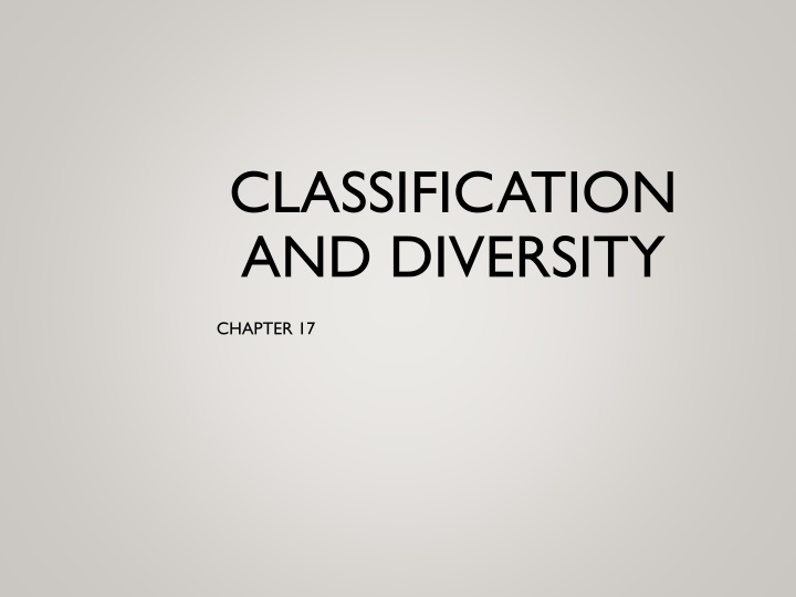 classification and diversity n.