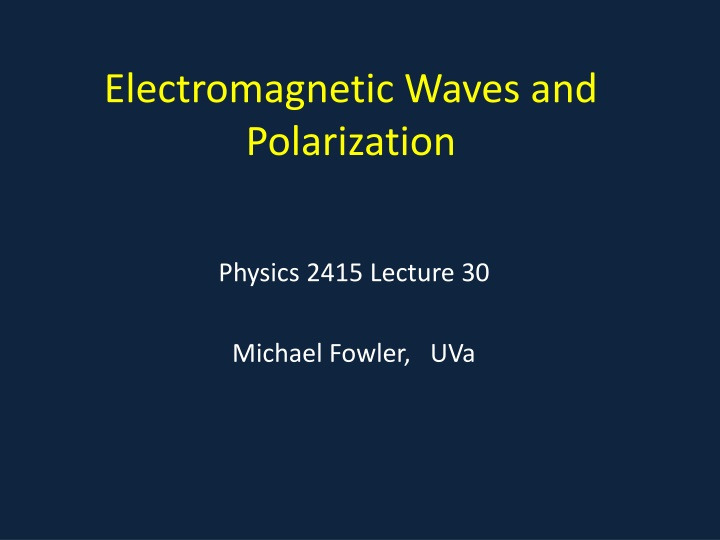 electromagnetic waves and polarization n.