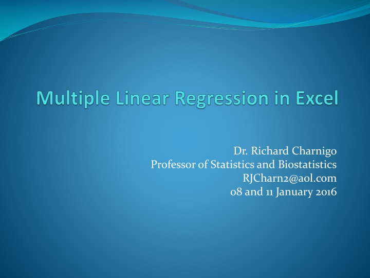 multiple linear regression in excel n.