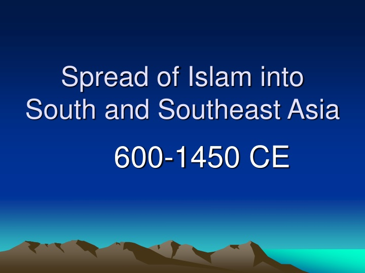 spread of islam into south and southeast asia n.