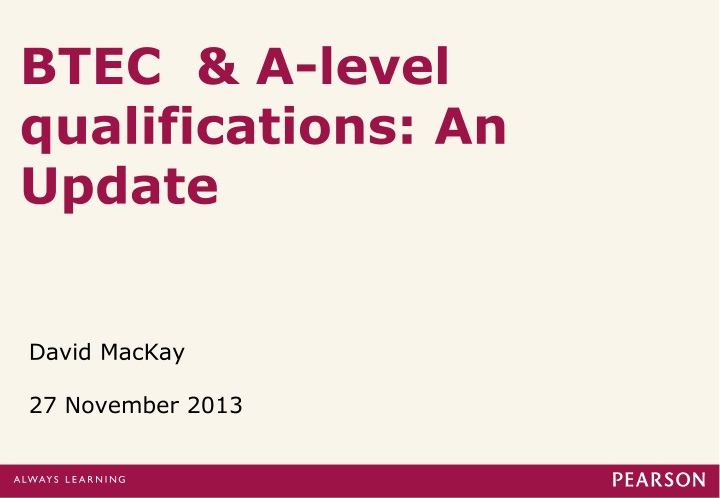 btec a level qualifications an update n.
