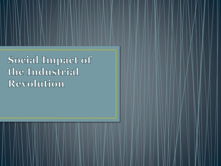 social impact of the industrial revolution n.