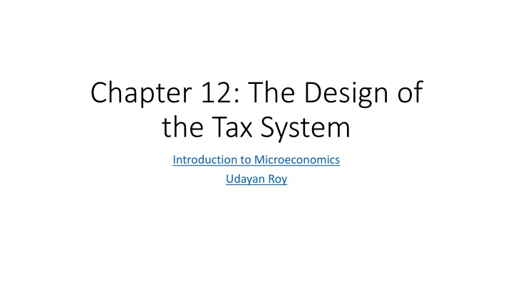 chapter 12 the design of the tax system n.