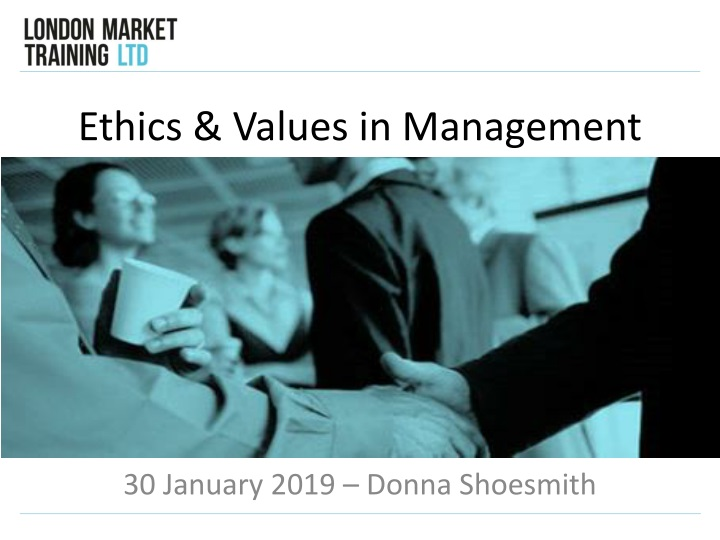 ethics values in management n.