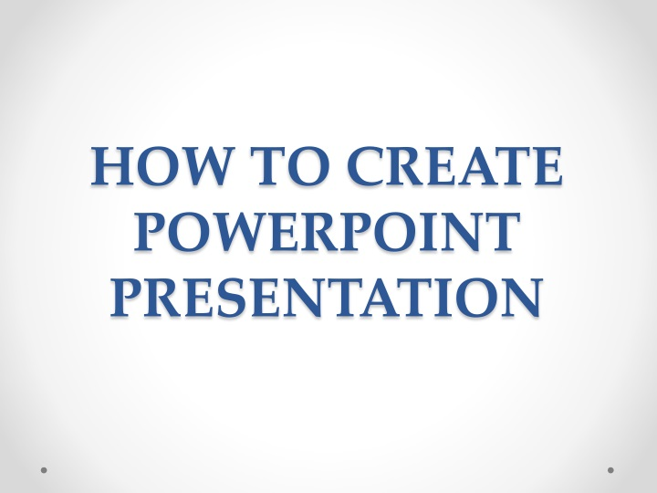 how to create powerpoint presentation n.