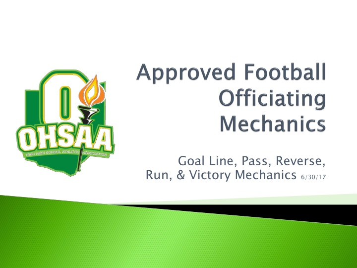 approved football officiating mechanics n.