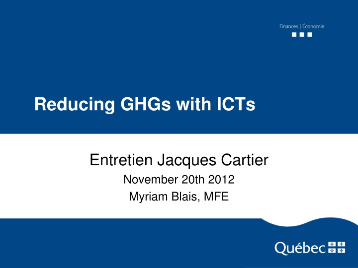 reducing ghgs with icts n.