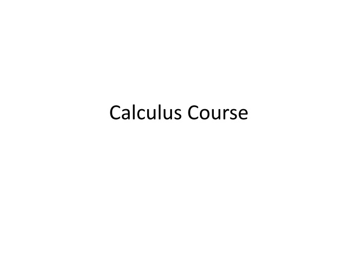 calculus course n.