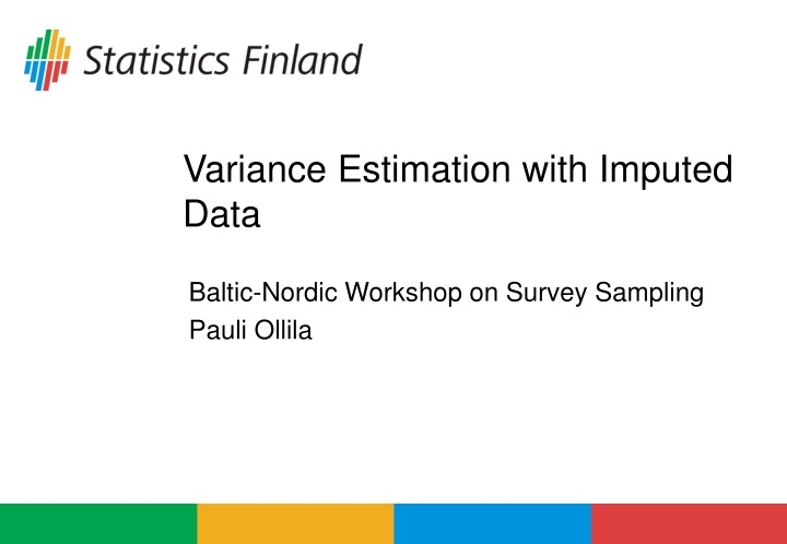 variance estimation with imputed data n.