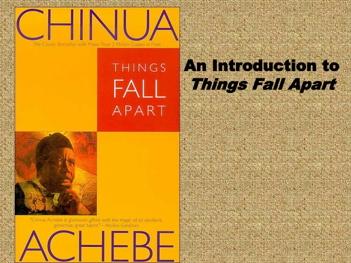 an introduction to things fall apart n.