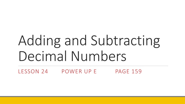 adding and subtracting decimal numbers n.