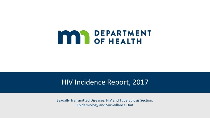 hiv incidence report 2017 n.