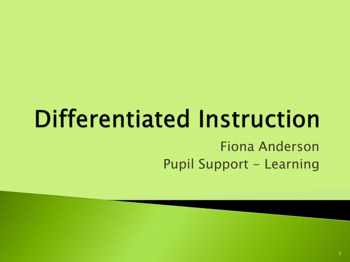 differentiated instruction n.