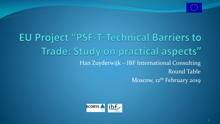 eu project psf t technical barriers to trade study on practical aspects n.