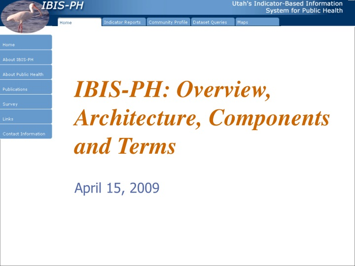 ibis ph overview architecture components and terms n.