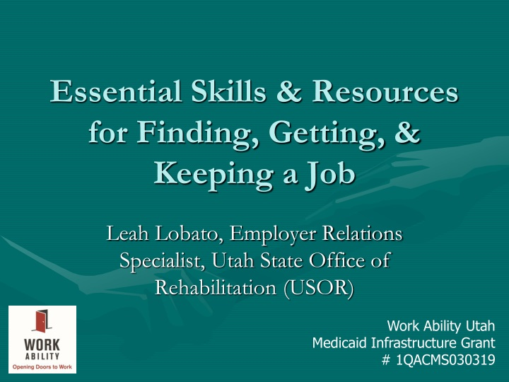 essential skills resources for finding getting keeping a job n.