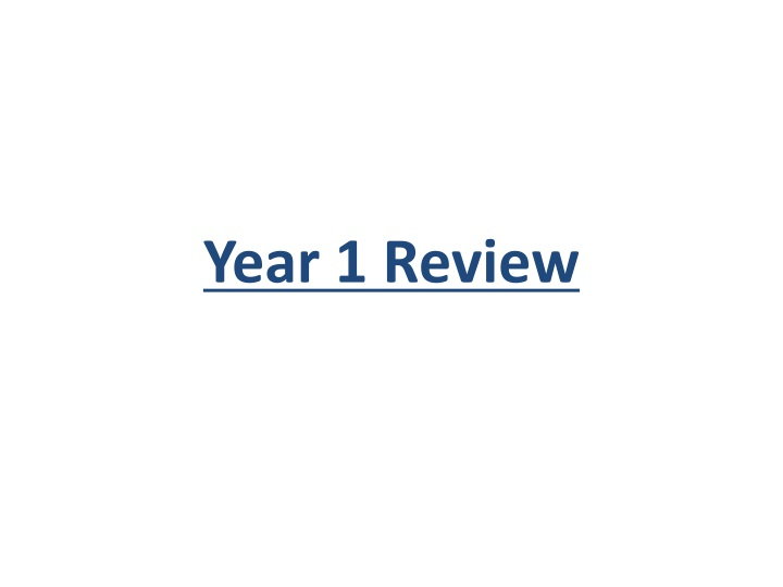 year 1 review n.
