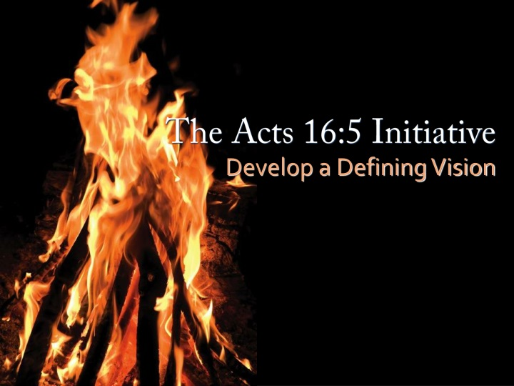 the acts 16 5 initiative n.