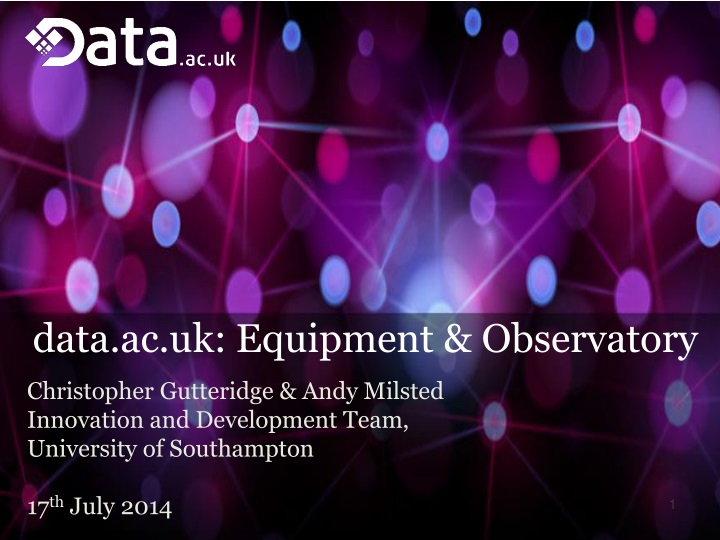 data ac uk equipment observatory n.