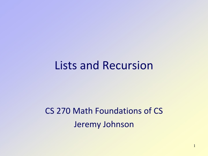 lists and recursion n.