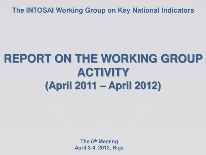 the intosai working group on key national n.