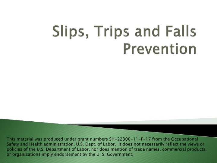 slips trips and falls prevention n.