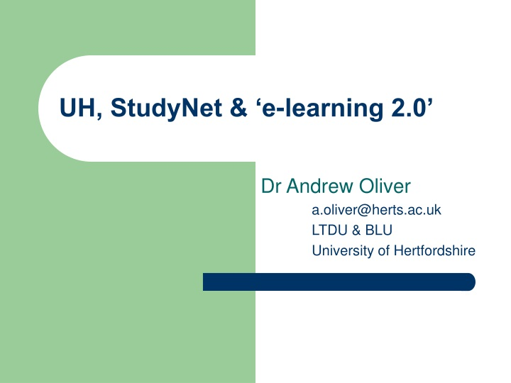 uh studynet e learning 2 0 n.