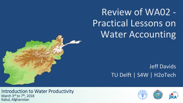 review of wa02 practical lessons on water accounting n.