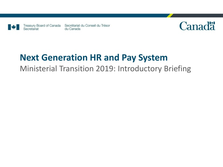 next generation hr and pay system ministerial n.