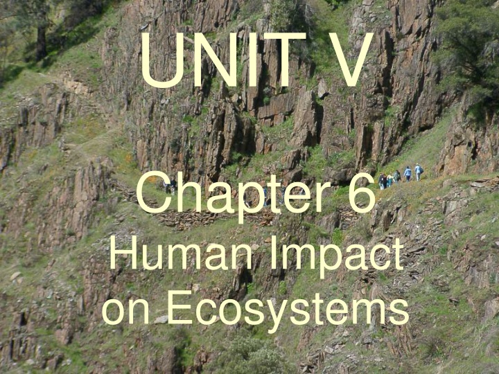 unit v chapter 6 human impact on ecosystems n.