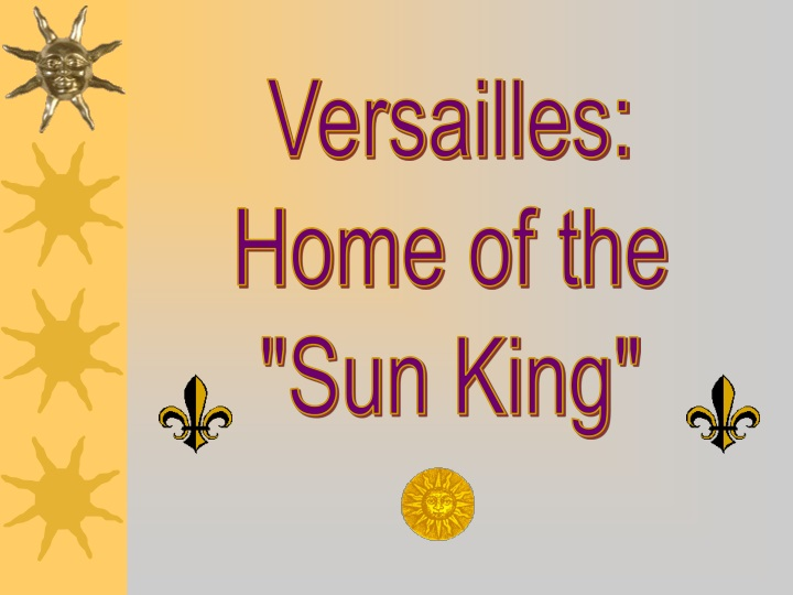 versailles home of the sun king n.