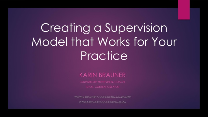 creating a supervision model that works for your practice n.