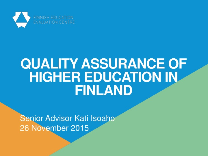 quality assurance of higher education in finland n.
