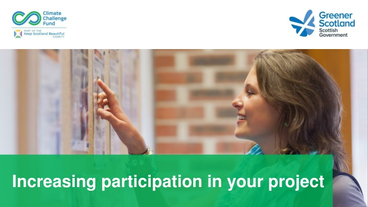 increasing participation in your project n.