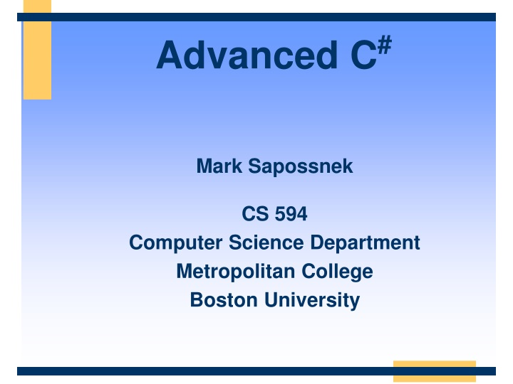 advanced c n.