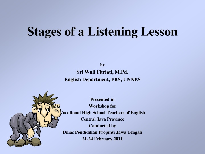 stages of a listening lesson n.