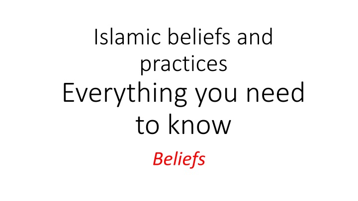 islamic beliefs and practices everything you need to know n.
