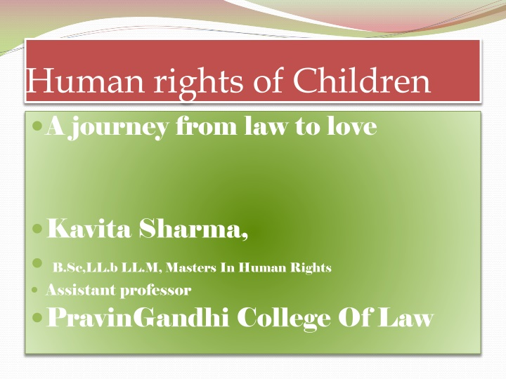human rights of children n.