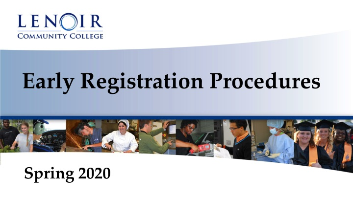 early registration procedures n.