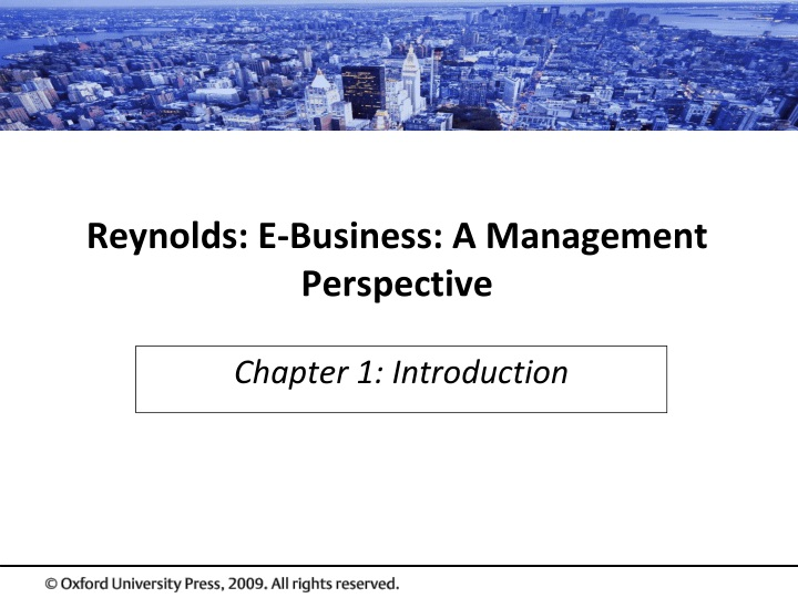 reynolds e business a management perspective n.