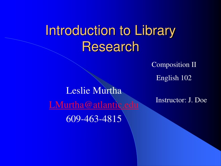 introduction to library research n.