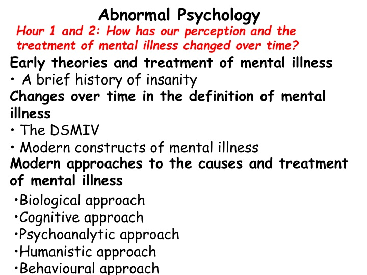 abnormal psychology n.