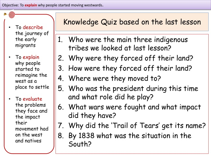 knowledge quiz based on the last lesson n.