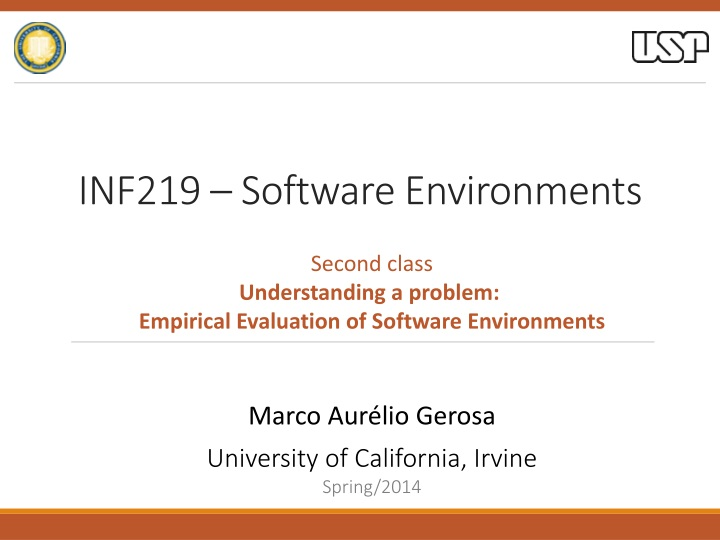 inf219 software environments n.