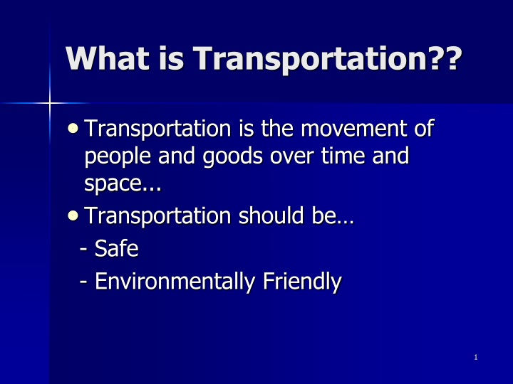 what is transportation n.