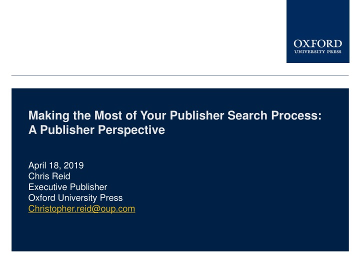 making the most of your publisher search process n.