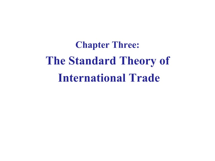 chapter three the standard theory n.