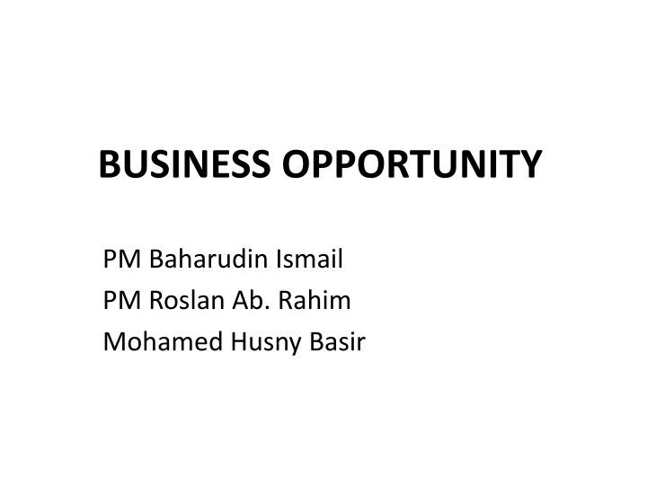 business opportunity n.