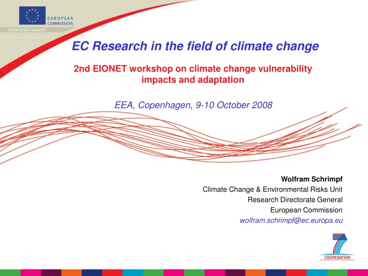 ec research in the field of climate change n.