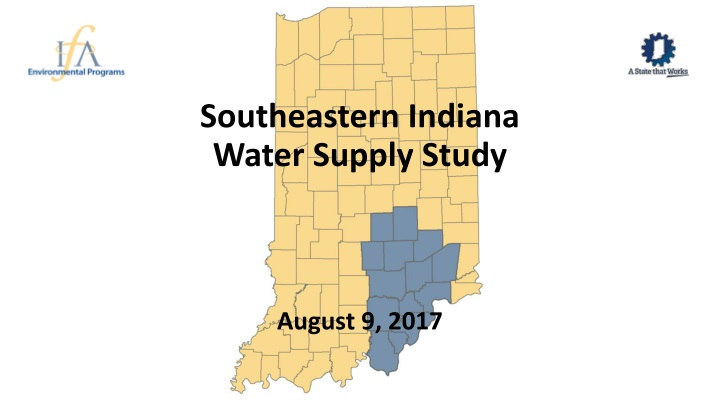 southeastern indiana water supply study n.